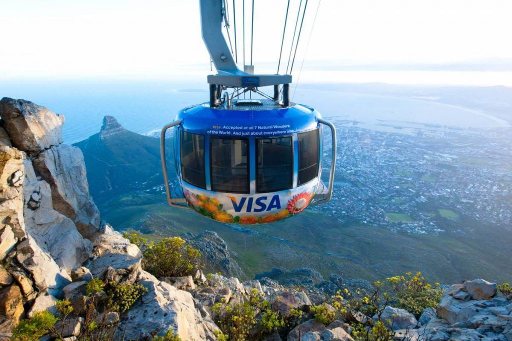 Cape Town scene from Table Mountain cable car